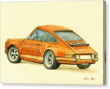 Porsche Classic Art 911 Canvas Print