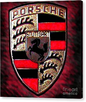 Porsche Emblem Canvas Print by George Pedro