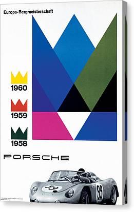 Porsche Europa Bergmeisterschaft Canvas Print by Georgia Fowler