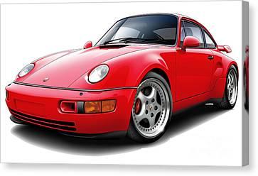 Porsche Flachbau Redcar Canvas Print by Maddmax