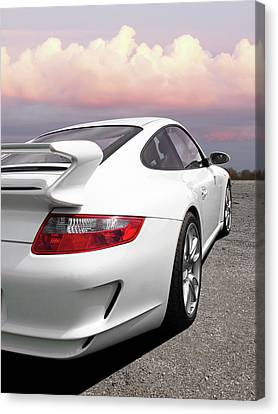 Porsche Gt3 Cs At Sunset Canvas Print