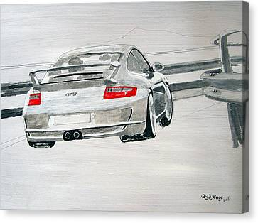 Canvas Print featuring the painting Porsche Gt3 by Richard Le Page