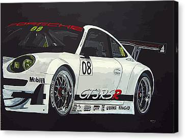 Canvas Print featuring the painting Porsche Gt3 Rsr by Richard Le Page