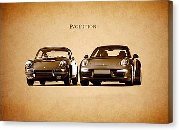 Porsche Canvas Print by Mark Rogan