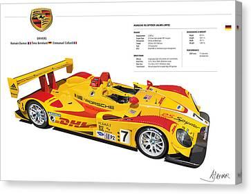 Porsche Poster Rs Spyder Canvas Print by Alain Jamar