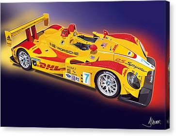 porsche RS Spyder Canvas Print by Alain Jamar