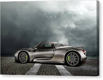 Hybrid Canvas Print - Porsche Spyder by Peter Chilelli