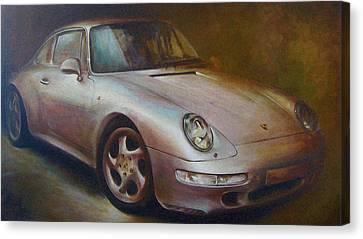 Porsche Canvas Print by Vali Irina Ciobanu