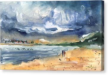 Port Alcudia Beach 03 Canvas Print by Miki De Goodaboom