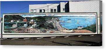 Port Angeles 1914 Mural Canvas Print by David Lee Thompson