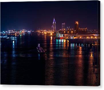Port City Purple Canvas Print
