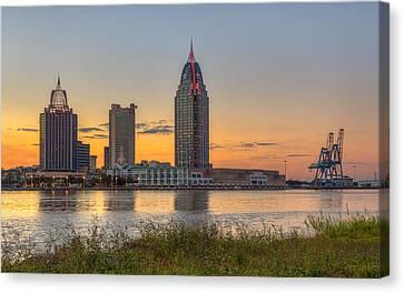 Port City Sunset 2 Canvas Print