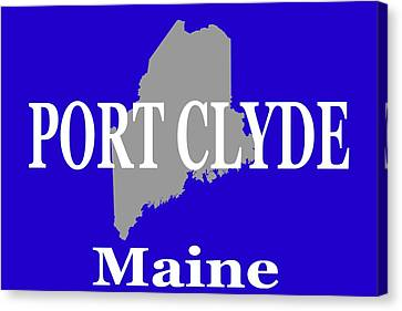 Canvas Print featuring the photograph Port Clyde Maine State City And Town Pride  by Keith Webber Jr