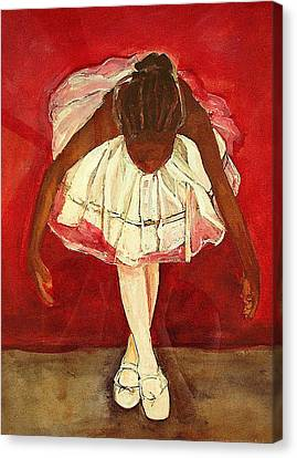 Ballet Dancers Canvas Print - Port De Bras Forward by Amira Najah Whitfield