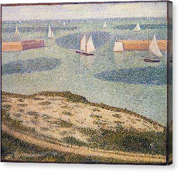 Port-en-bessin, Entrance To The Harbor Canvas Print by Georges Seurat