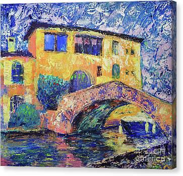 Port Grimaud Bridge Canvas Print by Denys Kuvaiev