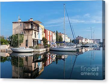 Port Grimaud Port With Yachts Canvas Print by Edoardo Nicolino
