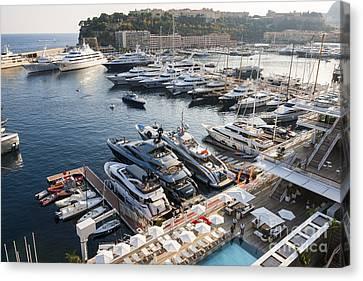 Port Hercule In Monaco Canvas Print