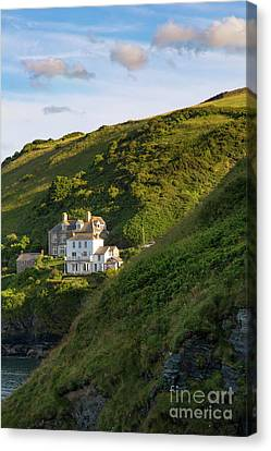 Canvas Print featuring the photograph Port Isaac Homes by Brian Jannsen