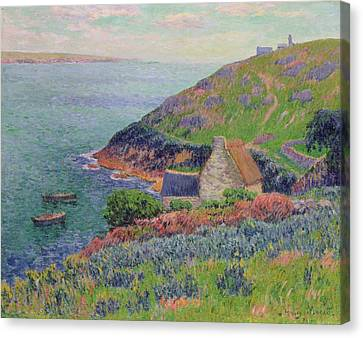 Port Manech Canvas Print by Henry Moret