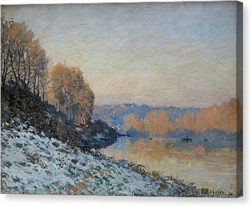 Port Marly, Hoarfrost  Canvas Print by Alfred Sisley