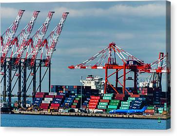 Port Newark Container Terminal Canvas Print