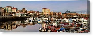 Canvas Print featuring the photograph Port Of Ferrol Galicia Spain by Pablo Avanzini