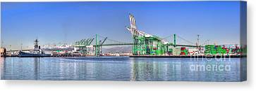 Port Of Los Angeles - Panoramic Canvas Print