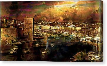 The Old Port Of Marseille Canvas Print