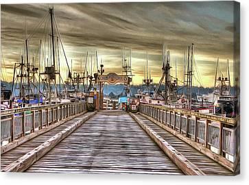 Port Of Newport - Dock 5 Canvas Print by Thom Zehrfeld