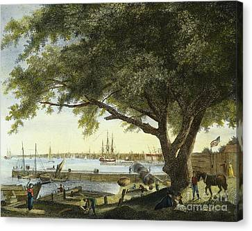 Port Of Philadelphia, 1800 Canvas Print by Granger