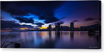Port Of Spain New Sky Line  Canvas Print by Marcus Gonzales