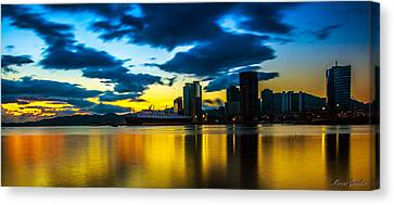 Port Of Spain Reflections  Canvas Print by Marcus Gonzales