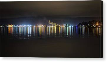 Port Of Tacoma Lights Canvas Print