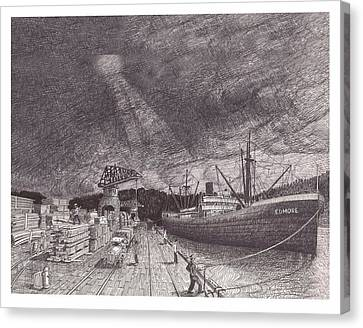 Port Of Tacoma Wa Waterfront Canvas Print by Jack Pumphrey