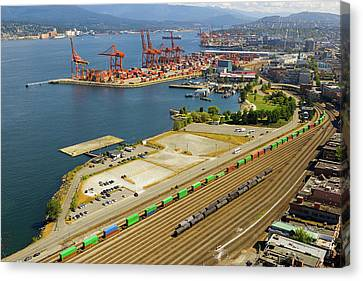 Port Of Vancouver Bc Canvas Print by David Gn