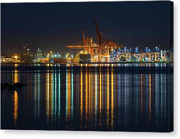 Port Of Vancouver In British Columbia Canada Canvas Print by David Gn