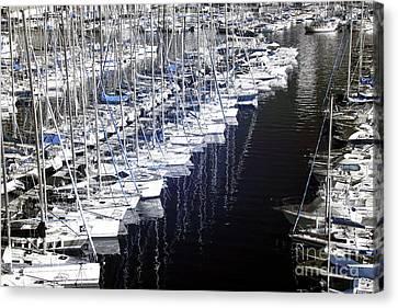 Port Parking Canvas Print by John Rizzuto