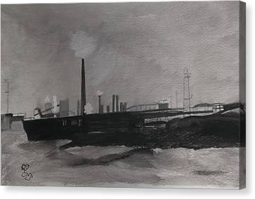 Port Talbot Steel Works Canvas Print