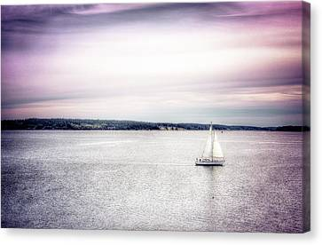 Canvas Print featuring the photograph Port Townsend Sailboat by Spencer McDonald