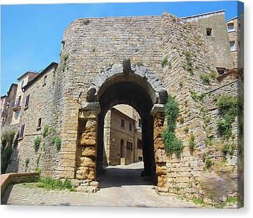 Canvas Print - Porta All' Arco Volterra by Marilyn Dunlap