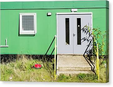 Portable Cabin Canvas Print by Tom Gowanlock