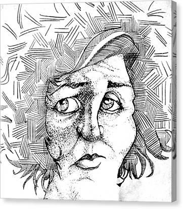 Portait Of A Woman Canvas Print by Michelle Calkins