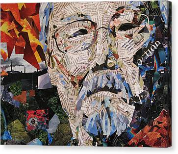 Portait Of David Suzuki Canvas Print
