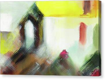 Canvas Print featuring the painting Portal by Anil Nene