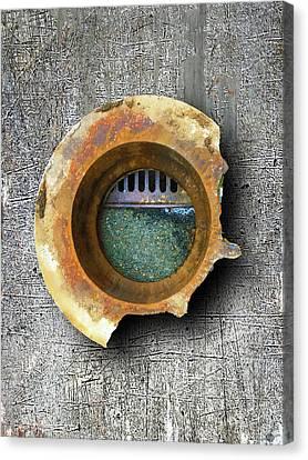 Canvas Print featuring the mixed media Portal by Tony Rubino