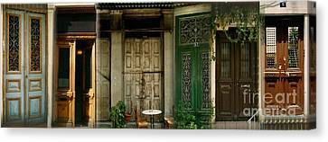 Canvas Print featuring the photograph Portals From The Plaka by Robert D McBain