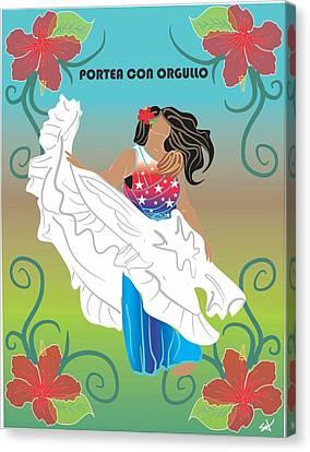 Porteo Puerto Rico Canvas Print by Parenthood Art Designs