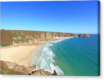 Porthcurno Canvas Print by Carl Whitfield