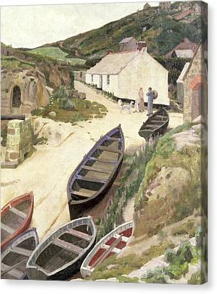 Porthgwarra Cornwall Canvas Print by Ernest Procter
